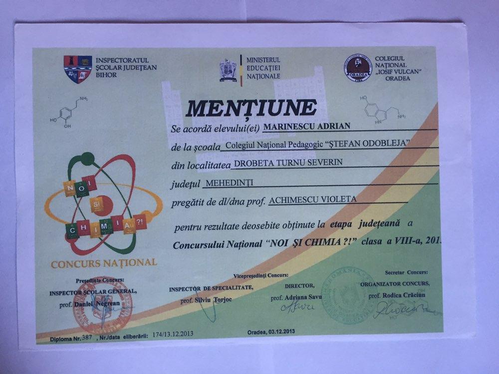 Chemestry Award