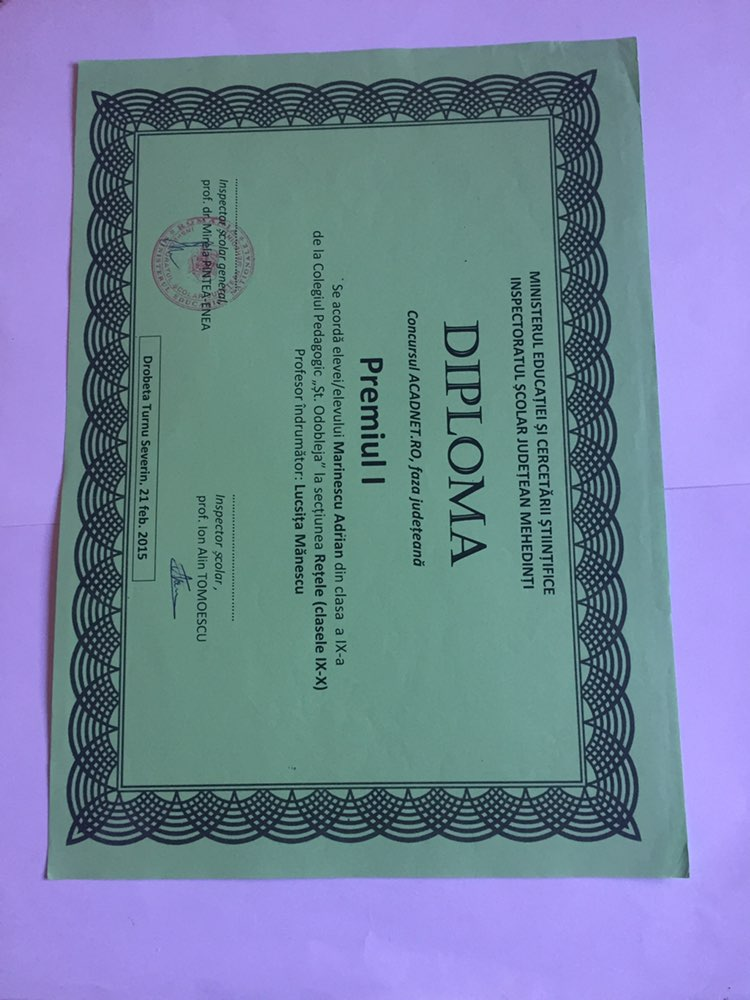 Informatics Contest Award