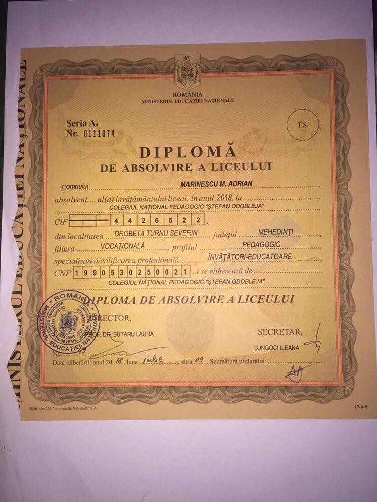 Highschool Certificate
