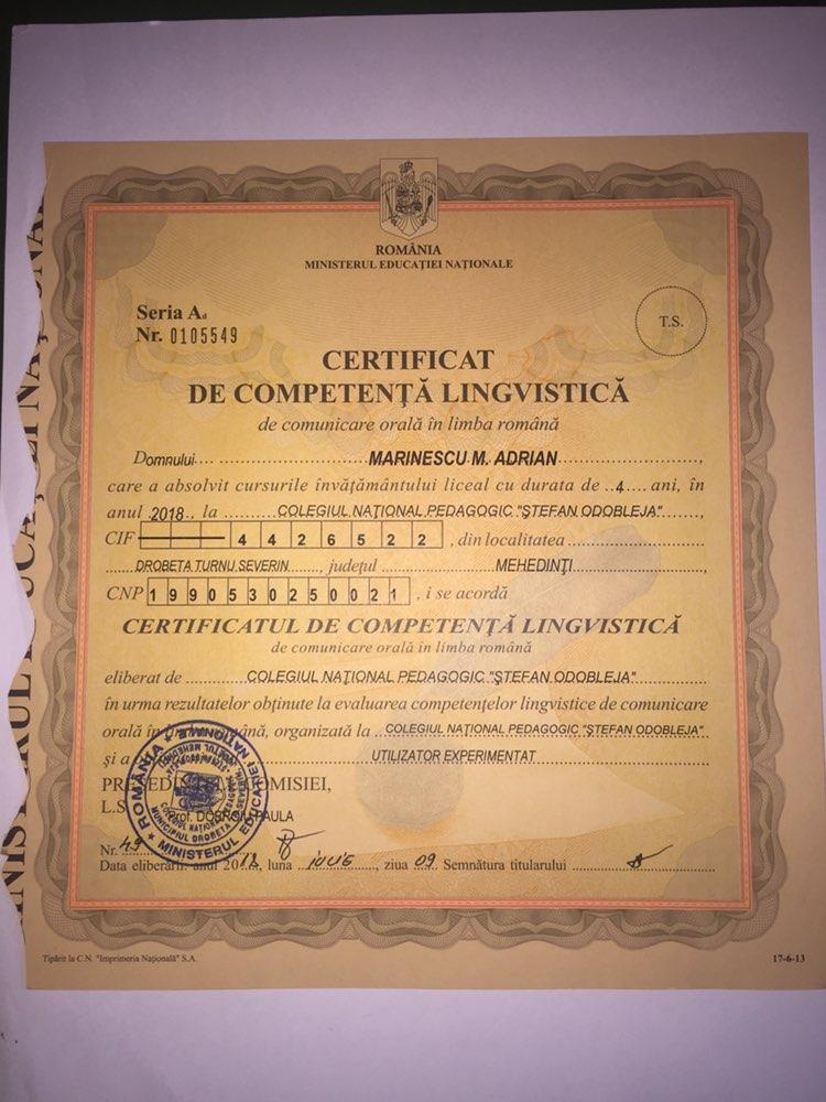 Advanced Romanian Level Certificate